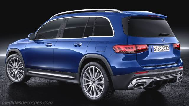 Medidas Mercedes-Benz GLB 2020, maletero e interior
