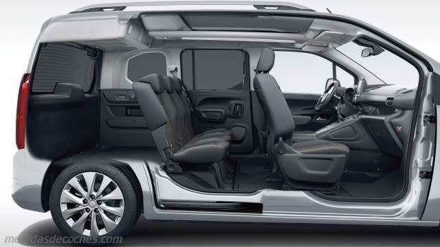 Medidas Opel Combo Life 2018, maletero e interior