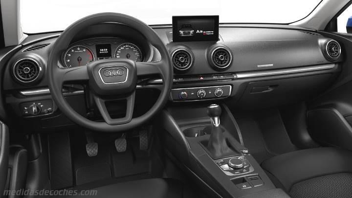 Medidas Audi A3 2016, maletero e interior