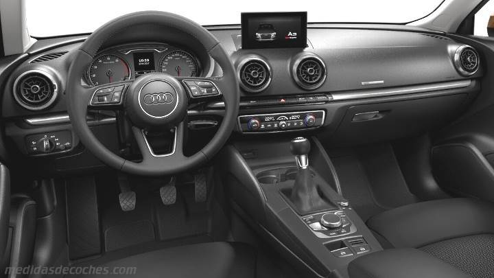 Medidas Audi A3 Sportback 2016, maletero e interior