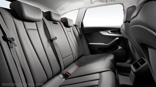 Medidas Audi A4 2016, maletero e interior