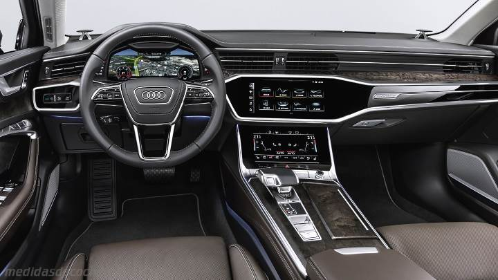 medidas audi a6 2018 maletero e interior. Black Bedroom Furniture Sets. Home Design Ideas