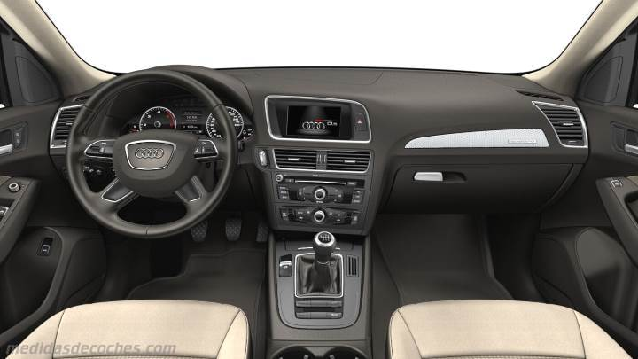 2017 Ford Colors >> Medidas Audi Q5 2012, maletero e interior