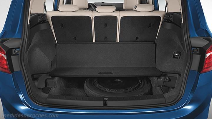 medidas bmw serie 2 gran tourer 2015 maletero e interior. Black Bedroom Furniture Sets. Home Design Ideas