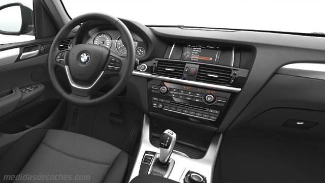 Medidas BMW X3 2014, maletero e interior