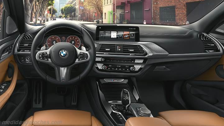Medidas BMW X3 2017, maletero e interior