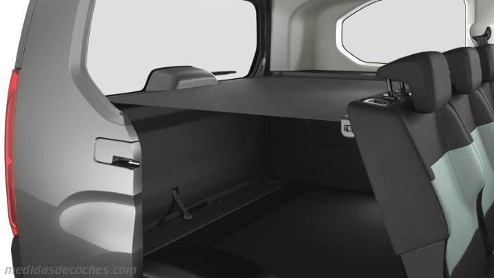 medidas citroen berlingo xl 2019 maletero e interior. Black Bedroom Furniture Sets. Home Design Ideas