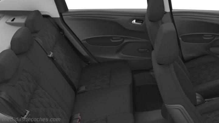 Medidas Citroen C-Elysée 2017, maletero e interior