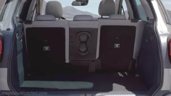 medidas citroen c3 aircross 2018 maletero e interior. Black Bedroom Furniture Sets. Home Design Ideas
