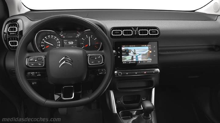 medidas citroen c3 aircross 2018 maletero e interior. Black Bedroom Furniture Sets. Home Design Ideas