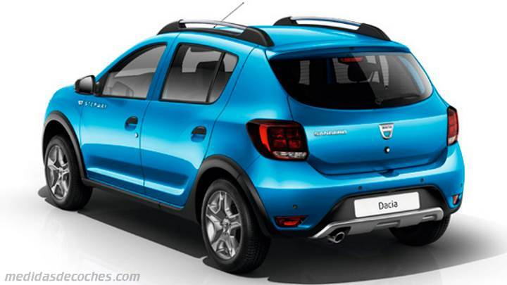 medidas dacia sandero stepway 2017 maletero e interior. Black Bedroom Furniture Sets. Home Design Ideas