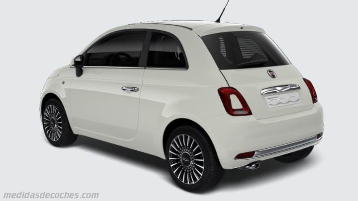 medidas fiat 500 2015 maletero e interior. Black Bedroom Furniture Sets. Home Design Ideas