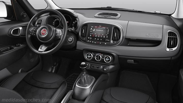 medidas fiat 500l 2017 maletero e interior. Black Bedroom Furniture Sets. Home Design Ideas