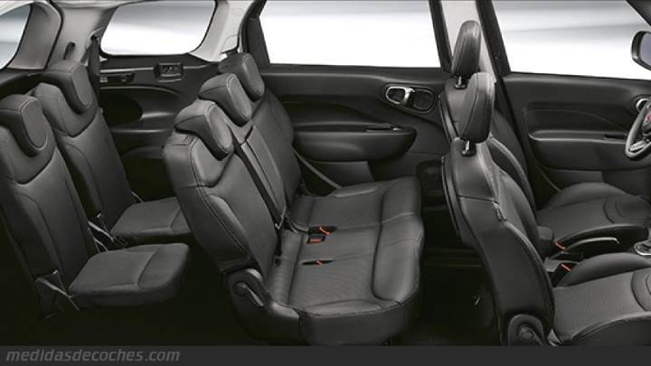 medidas fiat 500l wagon 2017 maletero e interior. Black Bedroom Furniture Sets. Home Design Ideas