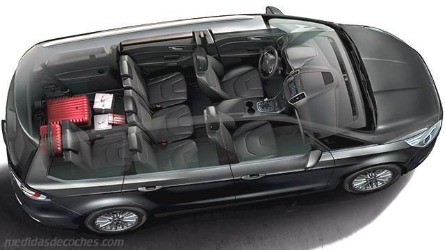 Medidas Ford Galaxy 2015, maletero e interior