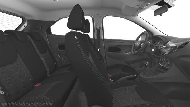 medidas ford ka  maletero  interior