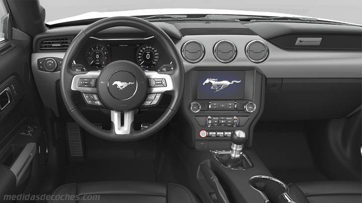 Medidas Ford Mustang 2018, maletero e interior