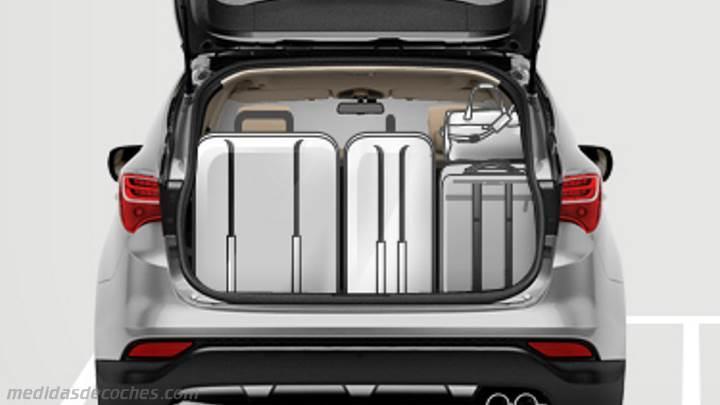 Medidas Hyundai Santa Fe 2013, maletero e interior
