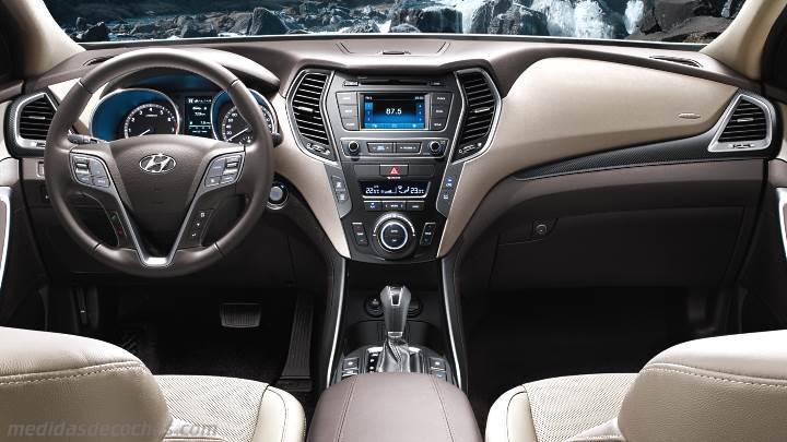 Medidas Hyundai Santa Fe 2016, maletero e interior
