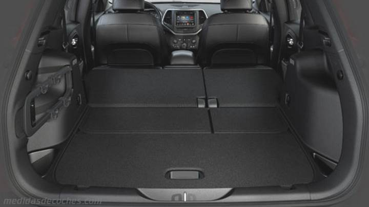 Medidas Jeep Cherokee 2014, maletero e interior