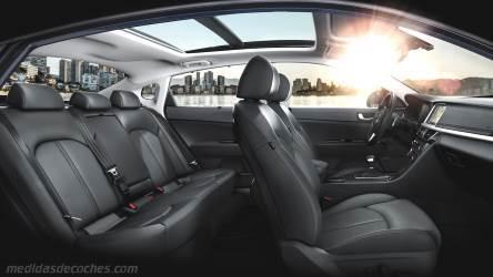 Medidas Kia Optima 2016, maletero e interior