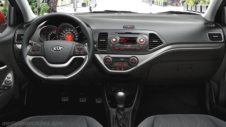 medidas kia picanto 2015 maletero e interior. Black Bedroom Furniture Sets. Home Design Ideas