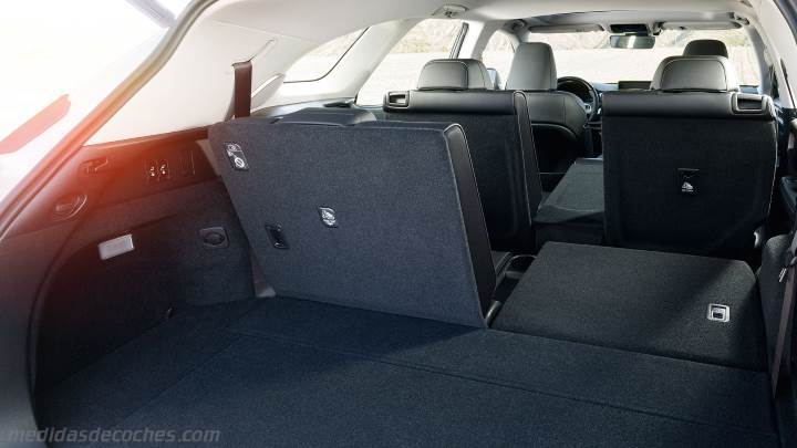 medidas lexus rx l 2018 maletero e interior. Black Bedroom Furniture Sets. Home Design Ideas
