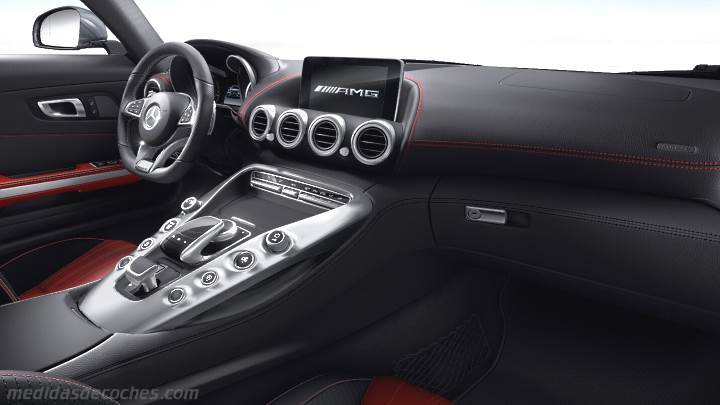 medidas mercedes benz amg gt 2015 maletero e interior. Black Bedroom Furniture Sets. Home Design Ideas