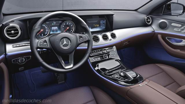 Medidas mercedes benz clase e 2016 maletero e interior for Interior mercedes clase c