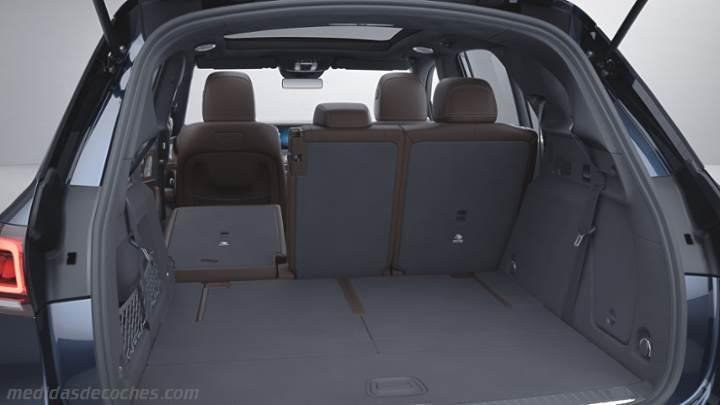 Medidas Mercedes-Benz GLE SUV 2019, maletero e interior