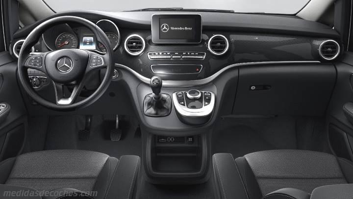 Jeep Wrangler Unlimited Interior >> Medidas Mercedes-Benz Clase V Compacto 2014, maletero e interior