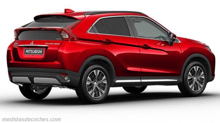 Medidas Mitsubishi Eclipse Cross 2018, maletero e interior