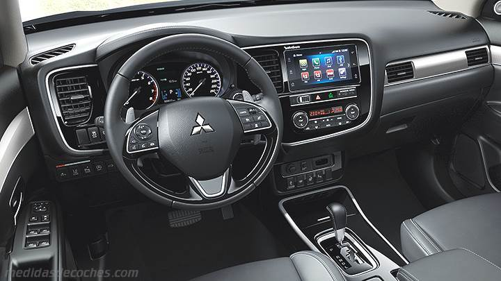 medidas mitsubishi outlander 2019 maletero e interior. Black Bedroom Furniture Sets. Home Design Ideas