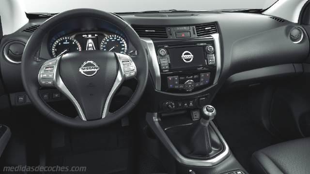 Medidas Nissan NP300 Navara 2016, maletero e interior