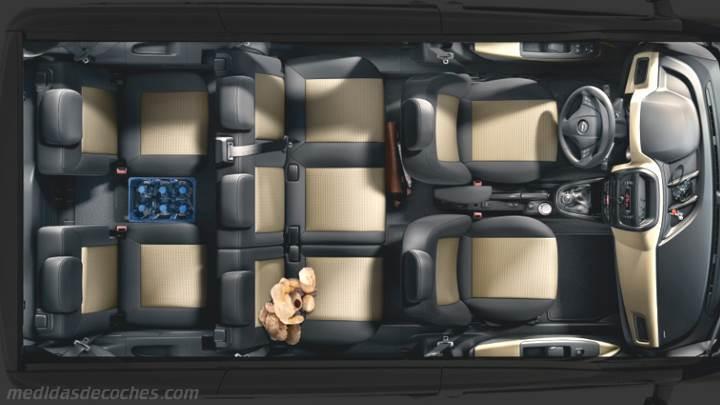 Medidas Opel Combo Tour 2012, maletero e interior