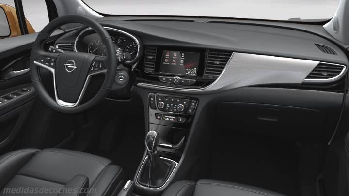 Medidas Opel Mokka X 2016, maletero e interior