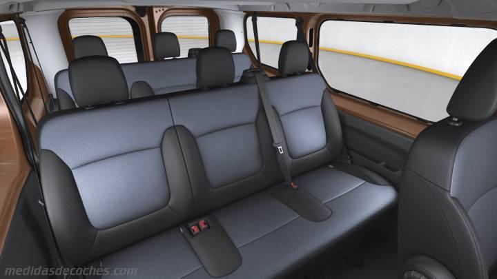 Medidas Opel Vivaro Combi 2015, maletero e interior
