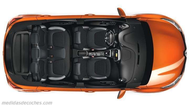 Medidas Renault Captur 2017, maletero e interior