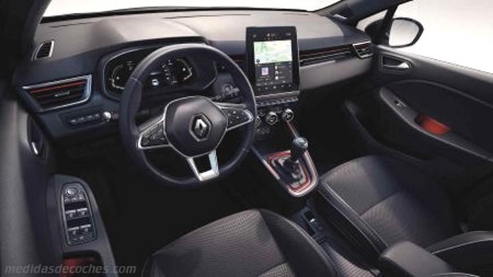 Medidas Renault Clio 2019, maletero e interior
