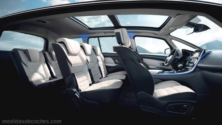 Medidas Renault Espace 2020, maletero e interior