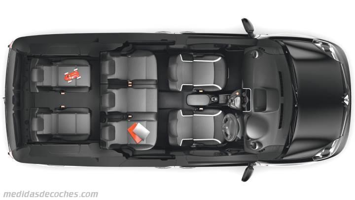 medidas renault grand kangoo 2013 maletero e interior. Black Bedroom Furniture Sets. Home Design Ideas