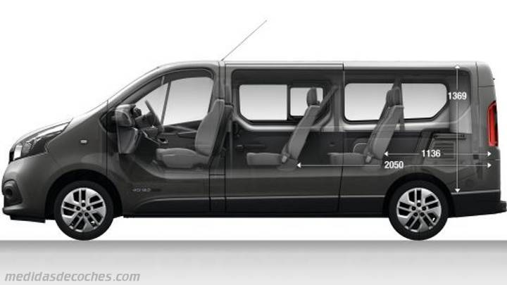 medidas renault grand trafic combi 2015 maletero e interior. Black Bedroom Furniture Sets. Home Design Ideas