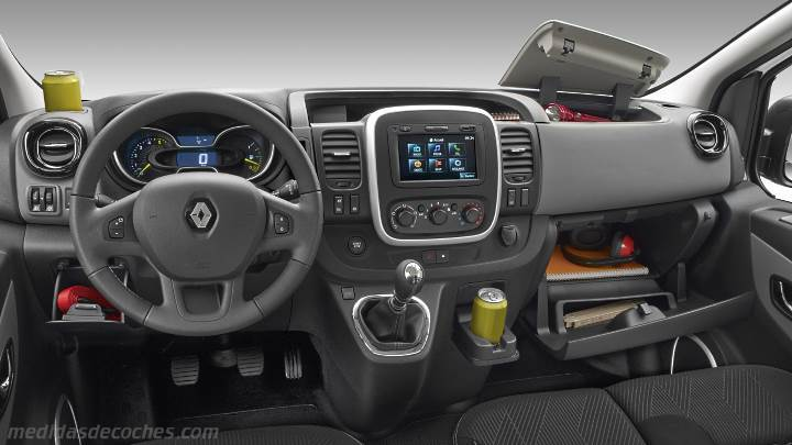 Medidas renault trafic combi 2015 maletero e interior for Renault trafic interieur
