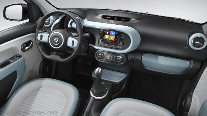 Medidas Renault Twingo 2015, maletero e interior