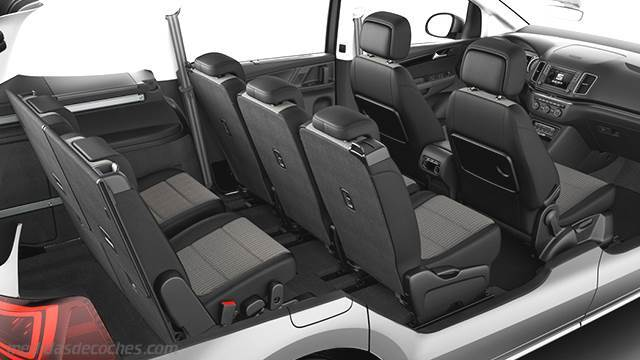 medidas seat alhambra 2015 maletero e interior. Black Bedroom Furniture Sets. Home Design Ideas