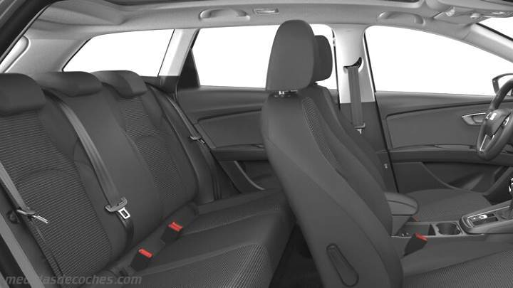Medidas seat le n st 2017 maletero e interior - Seat leon interior ...