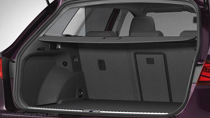 medidas seat le n st 2017 maletero e interior. Black Bedroom Furniture Sets. Home Design Ideas
