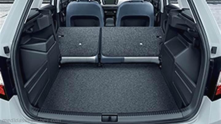 medidas skoda fabia combi 2015 maletero e interior. Black Bedroom Furniture Sets. Home Design Ideas