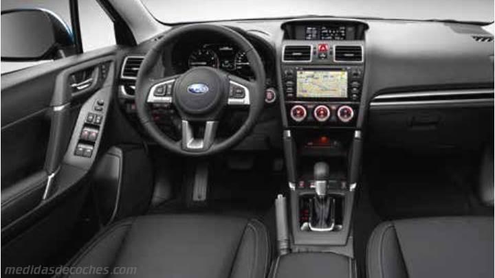 Medidas Subaru Forester 2016, maletero e interior