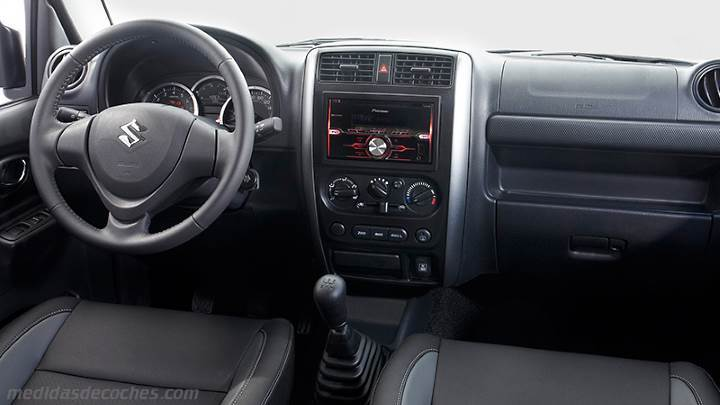 Medidas Suzuki Jimny 2012, maletero e interior